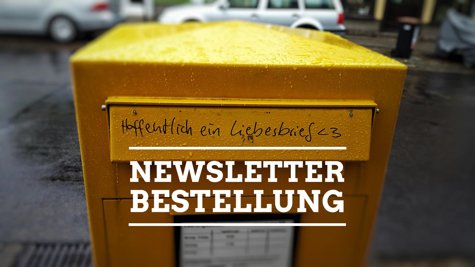 Immer up-to-date bleiben mit unserem Newsletter!